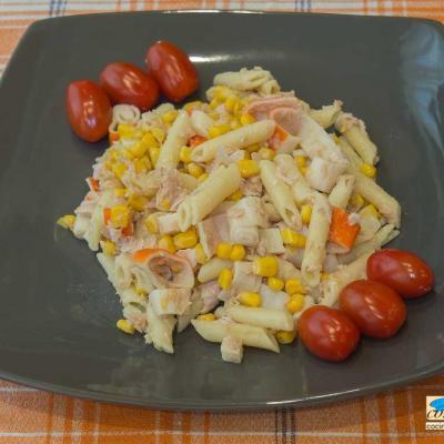 Receta de ensalada de pasta con atun - cocina con humo Crema de berenjena, calabacín y zanahoria
